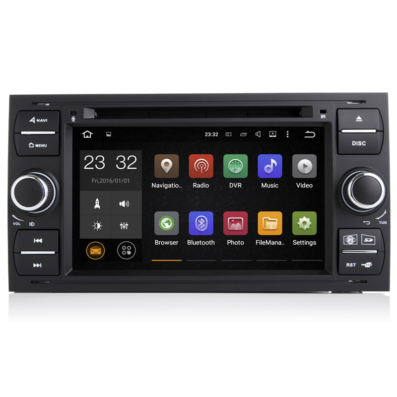 7 Inch Quad Core Android 7.1 PC Car DVD GPS Radio For Ford Transit Fiesta Galaxy Fusion C-MAX S-MAX Focus Kuga Mondeo 2006 2007