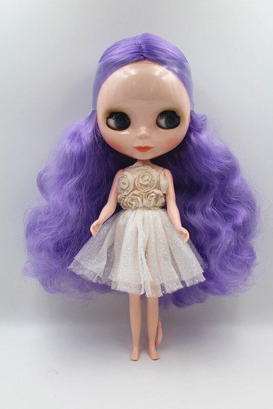 Spécial poupée lumière pourpre curl Blygirl poupée Blyth poupée commune corps 7 joint nu bébé poupée commune de peau