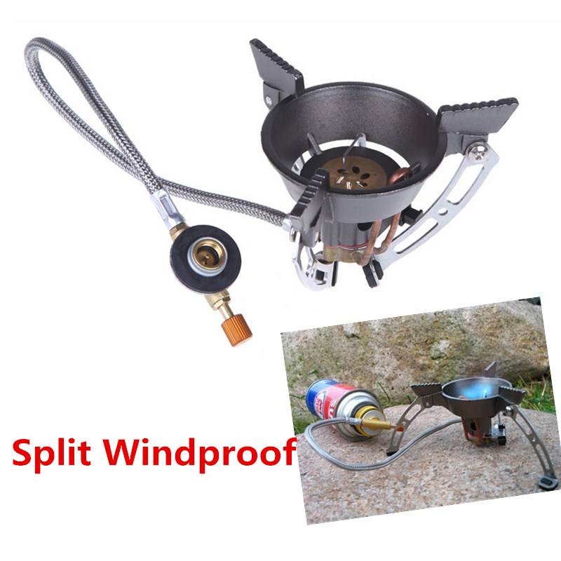 Portable Windproof Outdoor Gas Burner camping Stove Gas Cooker Hiking Climbing Picnic Gas Burner with adapter new outdoor travel portable camping equipment gas stove cooking burner picnic furnace cooker windproof cookware qb011 sz