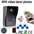 Wifi Video Door Bell App Support iOS and Android Smart Phone Tablet RFID Key&Touch Key w/ IR Camera&Code Key