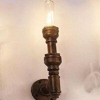Tubulação Industrial Do Vintage Lâmpada LED Wall Luzes Com 1 Luz Para Iluminação de Casa, Arandela Camada de Barreira Do Cilindro Frete Grátis