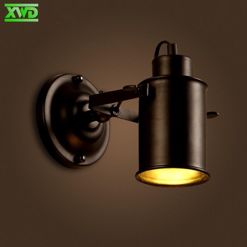 Vintage Unique Tête De Fer Peint Vintage Mur Lampe E27 Support de Lampe 110-240 V Café Maison/Salle À Manger/Foyer/Boutique Intérieur BB53