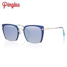 PINGLAS Squre gafas de Sol Mujeres Del Ojo de Gato de La Vendimia Gafas de Sol Modernas Gafas Marrón Rectangular Lente Gradiente gafas de sol