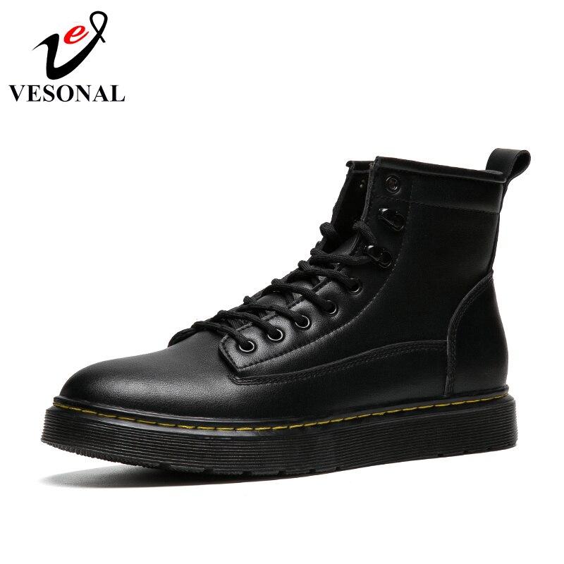 64f4bb39779a6 Martin De 2018 calzado Hombres Hombre Cuero Vesonal Adultos Para Corto Boots  Genuino Encaje Black Invierno Nuevo Zapatos Botas 74xqUnzZd
