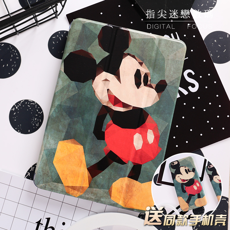 Personal Mouse Painted Mini4 Mini2 Mini3 Flip Cover For iPad Pro 9.7 Air Air2 Mini 1 2 3 4 Tablet Case Protective Shell 2017 new elecom 2 4g mini mouse vwith charging for home office general balls the mouse girl