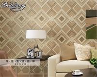 3d Wallpaper Simple Modern Wallpaper Living Room TV Backdrop 3D Square Grid Bedroom Wall Paper Wallpaper