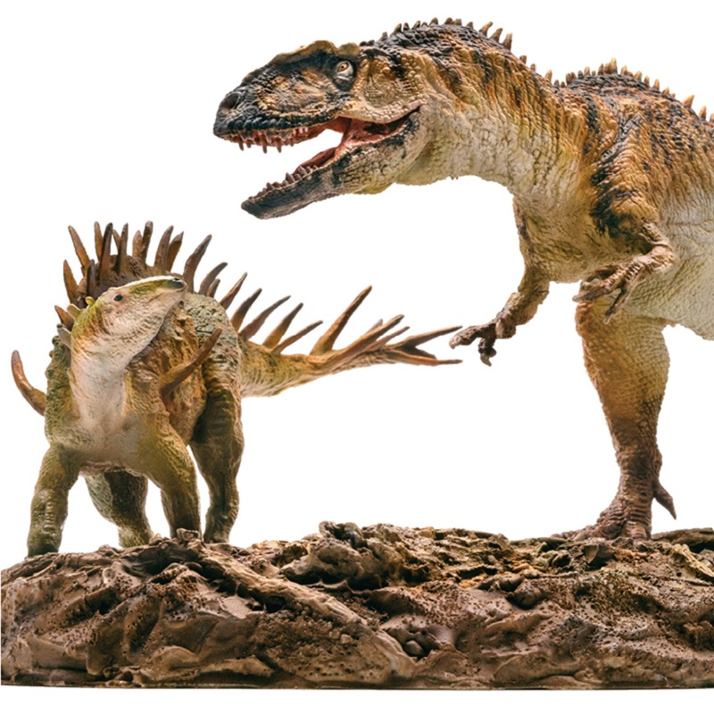 PNSO 2Pcs/set Dinosaurs Yangchuanosaurus + Chungkingosaurus 1:35 Scientific Animal Models-in Action & Toy Figures from Toys & Hobbies    3