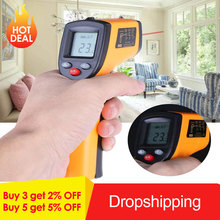Infrared Thermometer Thermal Imager Handheld Digital Electronic Car Temperature Non-contact Hygrometer -50~380C For Industrial