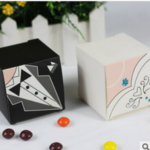 30 pcs/lot Paper gift box DIY candy box party mixed colour wedding party festival box black pink pattern boxes цена