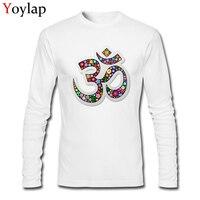 נמסטה פרחוני בד כותנה מתנת סמל למעלה טי חולצות לגברים בגדי שרוול ארוך סתיו החולצה הייחודית עיצוב