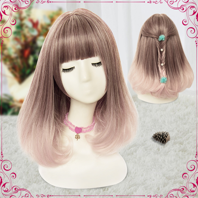 (Alice-Wig 050) Heat Resistant Fiber Hairpiece Synthetic Hair Wig Anime Lolita Cosplay Wig