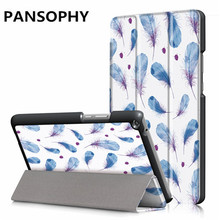 Pill Case For Huawei Media Pad T3 eight.zero Print Slim Folding Cowl Stand Case Pill PC Protecting for huawei t3 eight inch