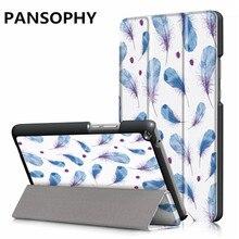 Caja de la tableta Para Huawei Media Pad T3 8.0 Imprimir Delgado Plegable cubierta Del Caso Del Soporte de Tablet PC Protectora para huawei t3 8 pulgadas