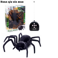 Realistic Rc Simulation Animal Plush Creepy Spider Remote Control Kids Toys Fake Crawl Prank Trick Halloween Gift