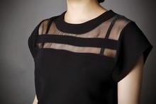 Summer Ladies Black Tops Blouses Women
