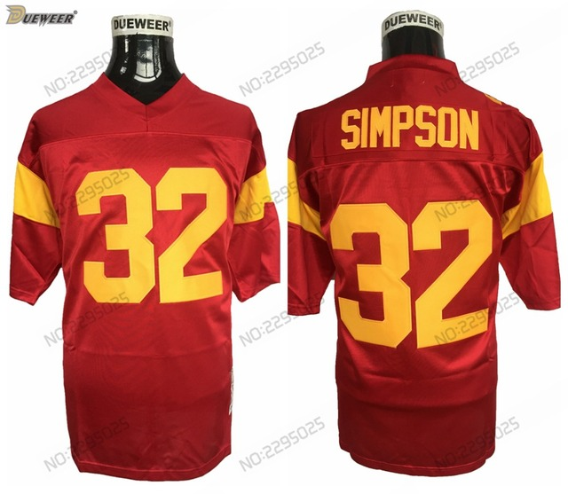63c5c78164f ... greece dueweer mens usc trojans o.j. simpson college football jersey  vintage red 32 oj simpson stitched