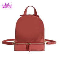 Women Embroidery Punk Hologram Laser Backpack Small Women Fashion Soft PU Leather Travel Daypack School Bags For Girls Mochila