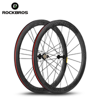 ROCKBROS 700C Carbon Road Bike Wheels 38mm 55mm Width 25mm 12K UD Matte T700 Powerway R13