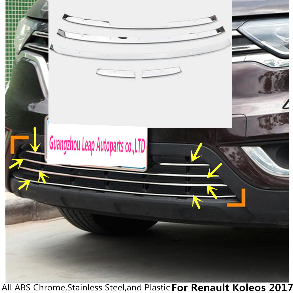 Aliexpress com buy hot sale for renault koleos 2017 car body cover stainless steel trim front up grid grill grille around frame lamp parts 5pcs from