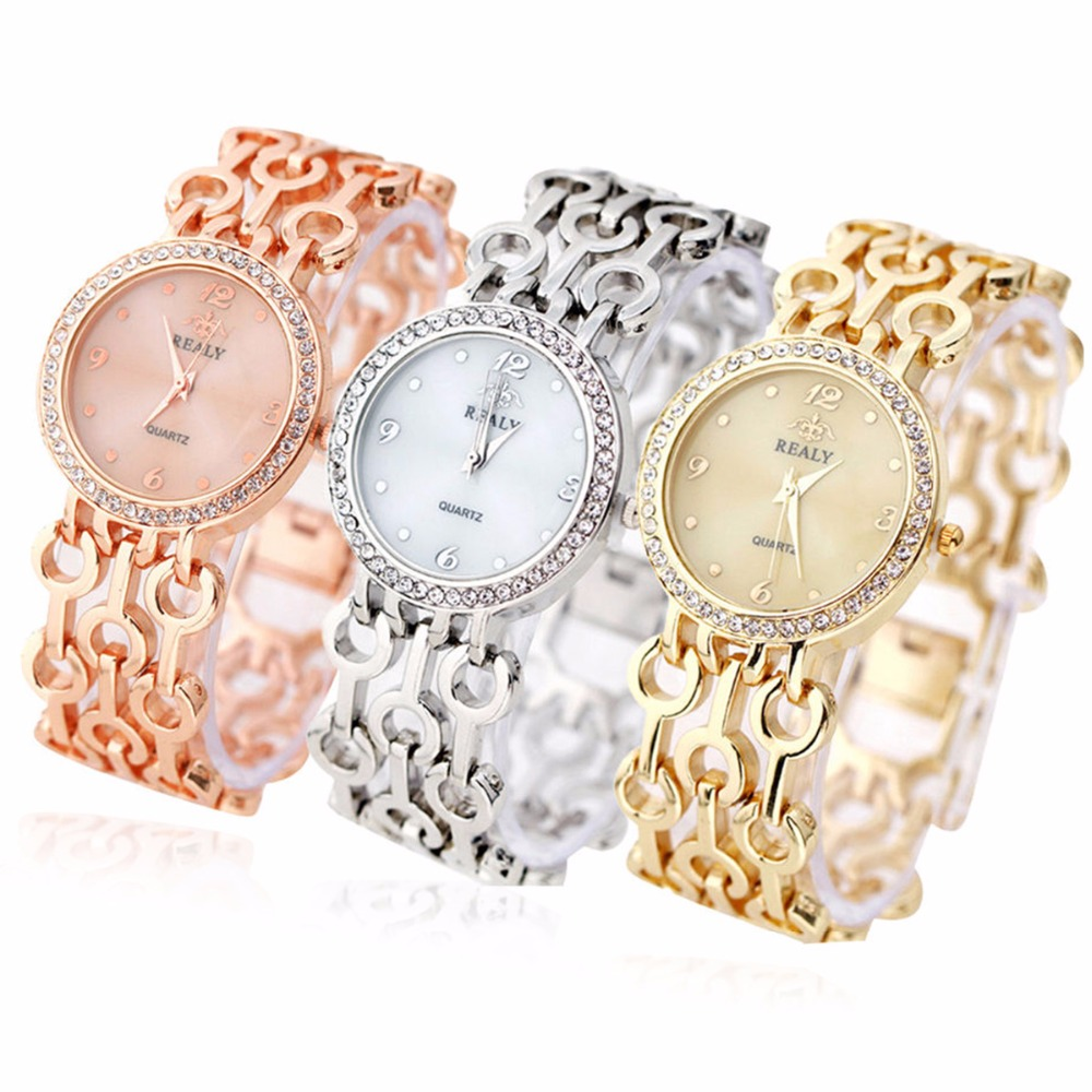 Luxury Crystal Stainless Steel Women Watches Rhinestone Bracelet Wristwatches Fashion Ladise Vintage Wrist Dress Quartz Watch stylish 8 led blue light digit stainless steel bracelet wrist watch black 1 cr2016