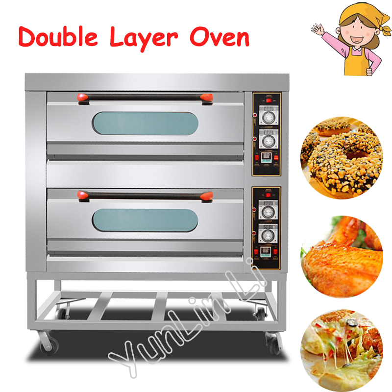 Commercial Electric Oven Cake Making Machine Pizza Tools Multi-Functional Vertical Toaster Kitchen Double Layer Oven 14w x 32h vertical louver functional