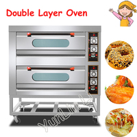 Commercial Electric Oven Cake Making Machine Pizza Tools Multi Functional Vertical Toaster Kitchen Double Layer Oven