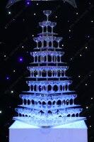 Свадебное вино башня, семь ярусов arcrylic Пирамида бокалов для шампанского, праздничные вечерние поставки