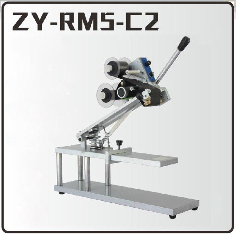 1 pièces ZY-RM5-C2 couleur ruban chaud Machine d'impression chaleur ruban imprimante film sac date imprimante manuel codage machine