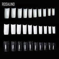 Großhandel 500 Pcs Klar Falsche Nägel Französisch Stil Nissen Nagels Erfüllt Lijm Acryl UV Gel Nail art Alse Nägel Mit zeichnungen