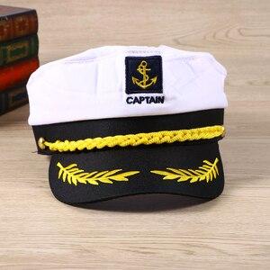 Image 5 - 大人ヨットボート船セーラーキャプテンコスチュームハットキャップ海軍海兵提督ボートスキッパー船セーラーキャプテン男性の女性のため