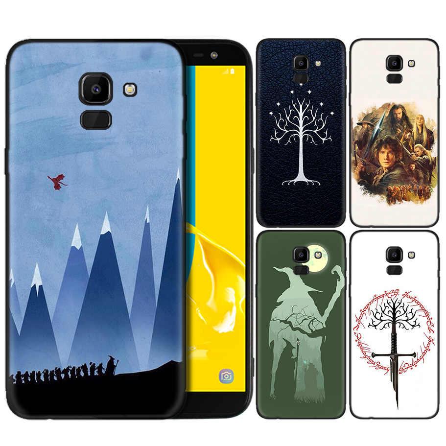 Capa de Silicone Para Samsung Galaxy J4 J6 A6 A8 Plus A7 A9 J8 2018 A5 2017 Macio Capa Shell O senhor dos Anéis Hobbit