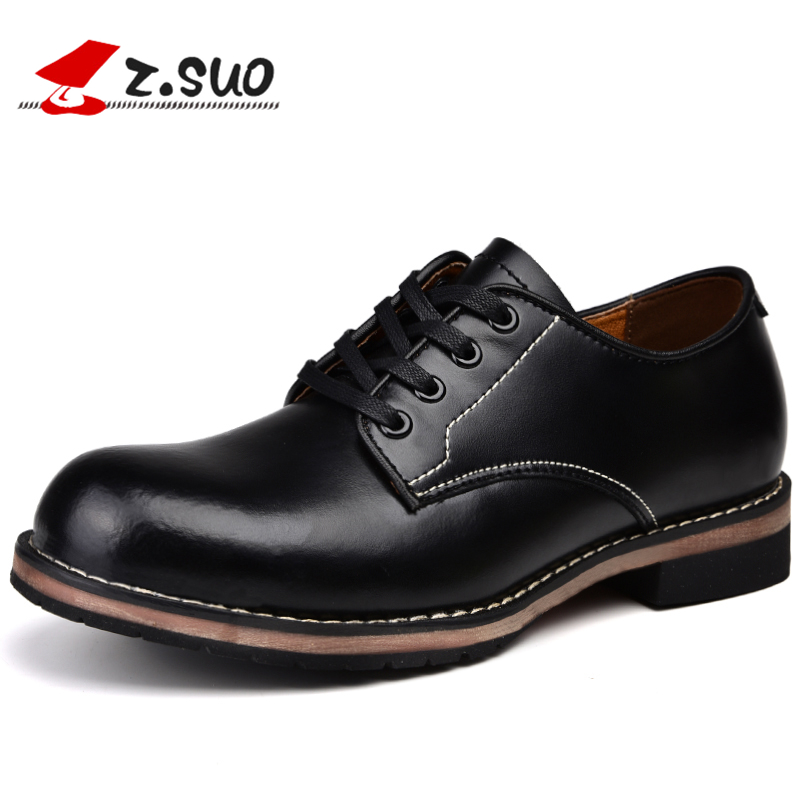 Z. Suo leather man casual shoes, spring and summer men 's shoes, solid color retro Mad cow shoes. Rubber wear soles. ZS18506 free shipping new spring and summer fashion men s denim jeans slim wear white pantyhose feet