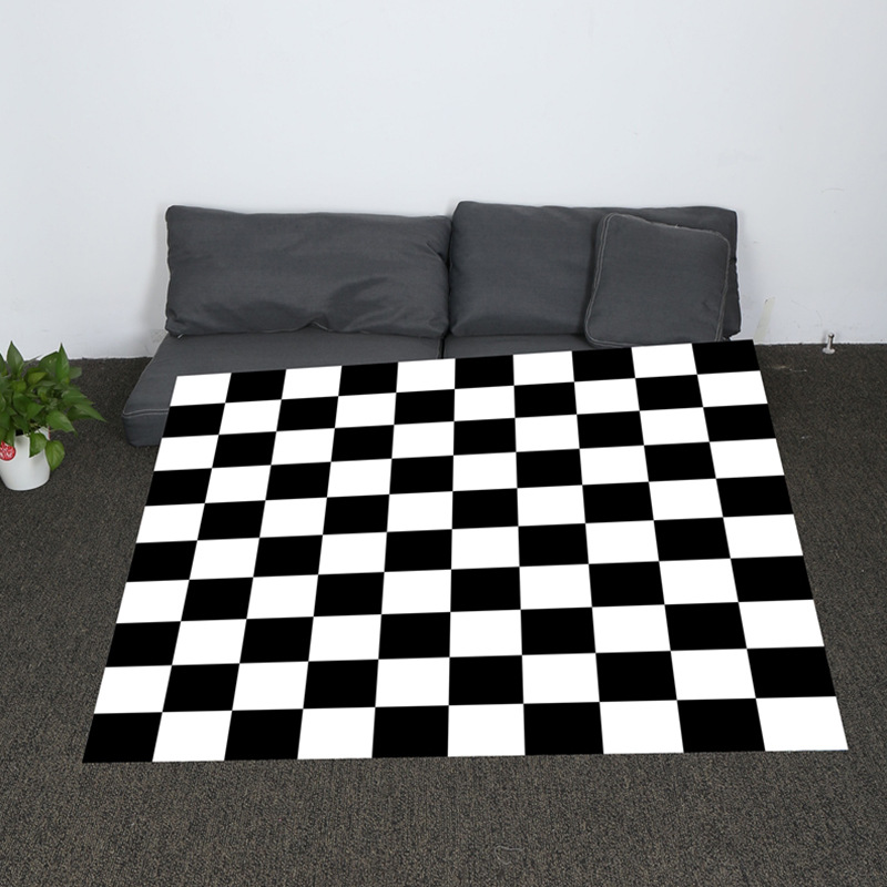 Fabulous Us 14 81 39 Off Super Soft Cozy Black And White Plaid And Peacock Feather Throw Blanket Cute Background Sherpa Blanket For Couch Throw Travel In Creativecarmelina Interior Chair Design Creativecarmelinacom