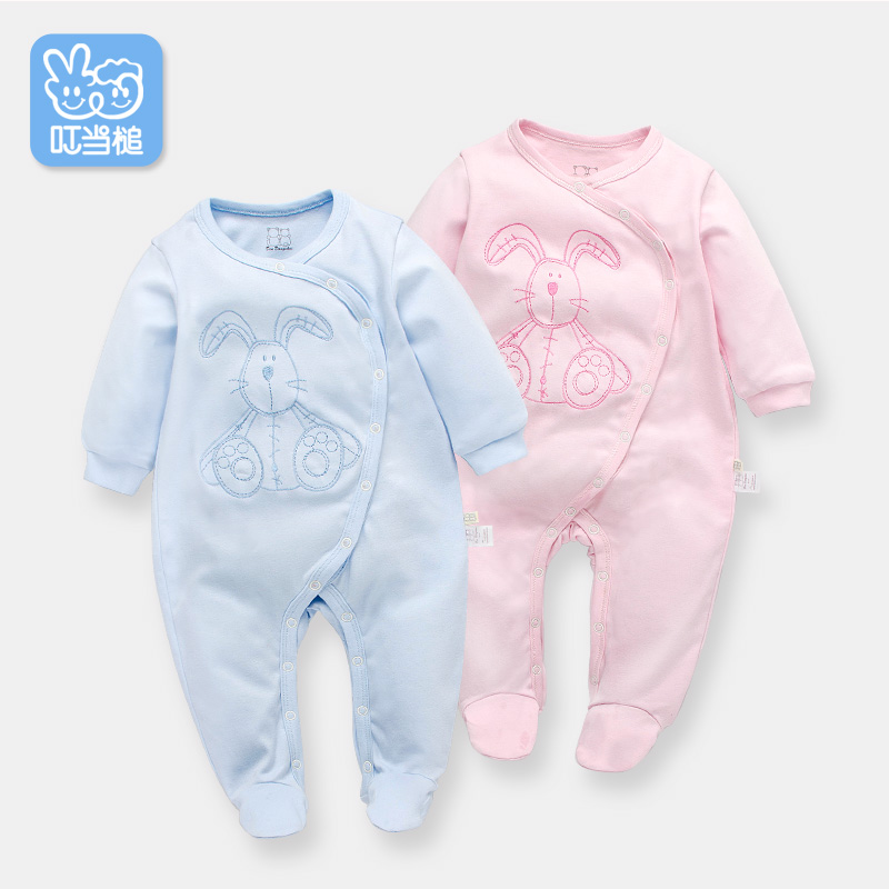 Dinstry Newborn clothes Spring and Autumn cartoon pajamas cute romper dinstry 2018 spring and autumn newborn baby cotton long sleeve romper lion pattern