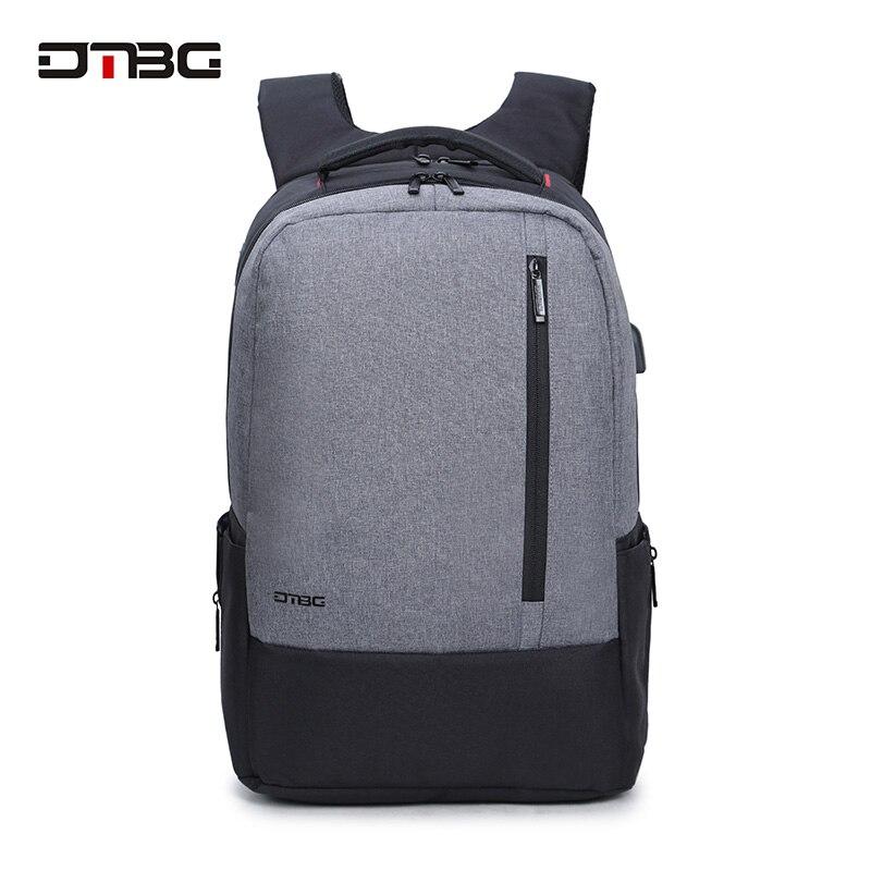 428e2c3ded2b DTBG Brand Laptop Smart Backpack Vintage Patchwork Mochilas USB Charging  Port School Bag For Teens Men Women Anti Theft Rucksack-in Backpacks from  Luggage ...