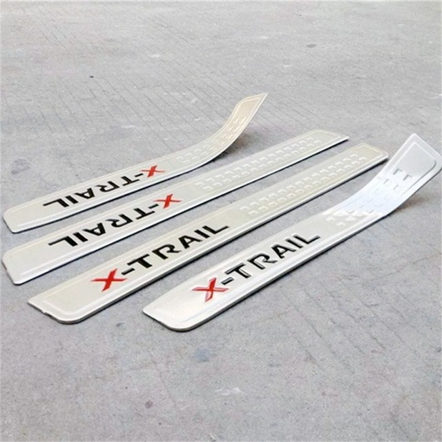 Abaiwai door stickers with red black logo door sill cover for nissan x trail guard