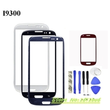 Vecmnoday For Samsung Galaxy S3 I9300 i9305 I747 Replacement Parts LCD Front Touch Screen Lens Outer Glass With Logo + Tools