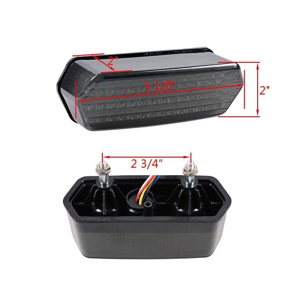 Triclicks 80W mootorratta saba lambi uus integreeritud LED-signaali - Mootorrataste tarvikud ja osad - Foto 4