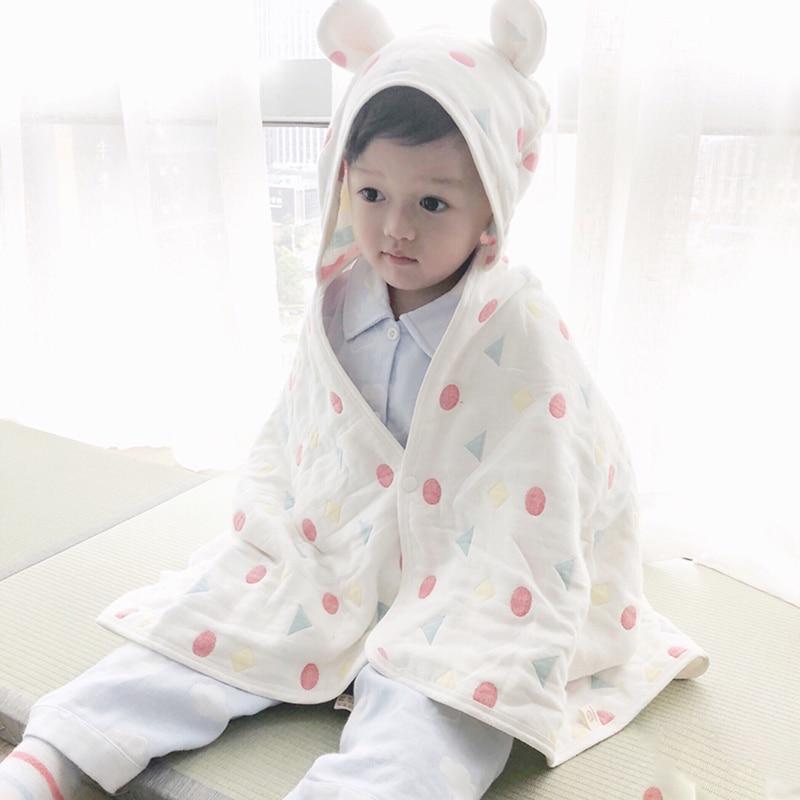 Nouveau bébé Swaddle couverture nouveau-né bébé ou adulte serviette de bain Swaddle couvertures coton Dot enfants bambou Fiber Wrap cobertor infantil
