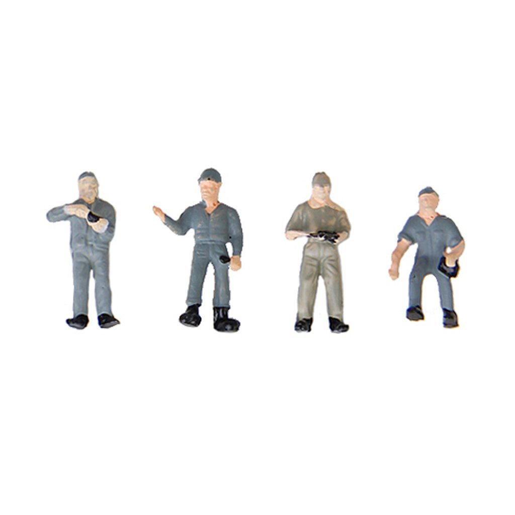 ABWE Best Sale 25pcs 1:87 Figurines Painted Figures Miniatures of Railway Workers with Bucket and Ladder