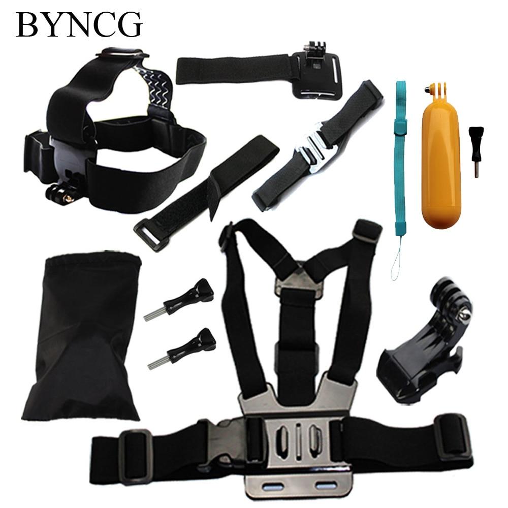 BYNCG Montage pour Gopro Accessoires Set Chest Head Strap Manfrotto Flottant Bobber Go pro Hero 6 5 4 Xiaomi Yi SJCAM Sj4000