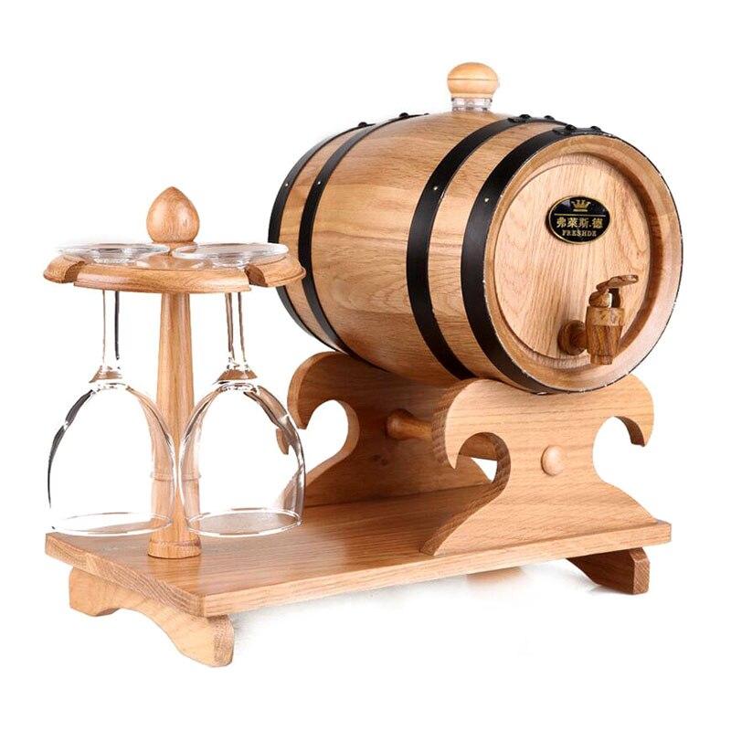 1.5l Eiken Vat Rode Wijn Vat Liquor Opslaan Wijn Blaas Gift Bar Hotel Sets Houten Vat Decoratie Real Eiken Cup Jh095