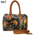 ZIWI Brand New Arrival Flowers Print Daily Travel Bag Fashion Women Bags Popular Oilclotch Lady Handbag QQ1837
