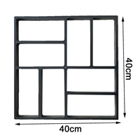 Paving Mold Black Plastic Making DIY Manually Paving Concrete Cement Brick Molds Lawn Garden Patio Reusable For Home Garden