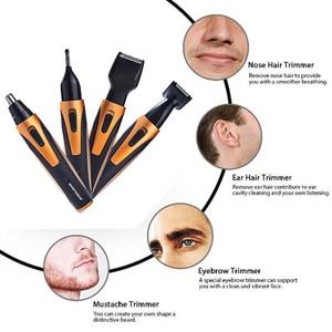 Image 2 - 4 In 1 Oplaadbare Elektrische Nose Hair Trimmer Removal Clipper Scheerapparaat Machine Baard Wenkbrauw Trimmer Voor Mannen Neus Haar Snijder