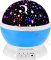 360 Degree Sky Star Lighting Lamp Romantic Room Rotating Cosmos Star Projector Night Light for Kids Baby Sleeping