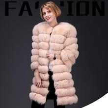 2018Women's New Natural Fox Fur Coat Detachable Fur Jacket M