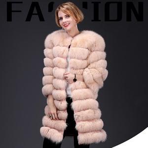 Image 1 - 여자의 새로운 천연 여우 모피 코트 분리형 모피 자켓 다기능 3 에서 하나의 가변 의류 따뜻한 패션 캐주얼 Eu