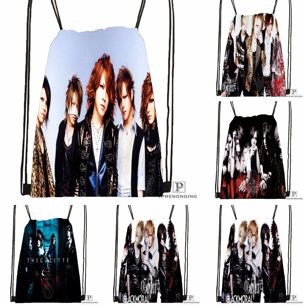 Custom The Gazette By Fxrence Drawstring Backpack Bag For Man Woman Cute Daypack Kids Satchel (Black Back) 31x40cm#180531-01-39