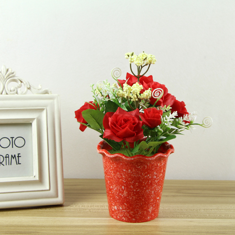 2017 Mini 2 Pcs Red Cylinder Rose Artificial Flower Plant Suit Rhaliexpress: Artificial Flowers For Home Decor Indoor At Home Improvement Advice